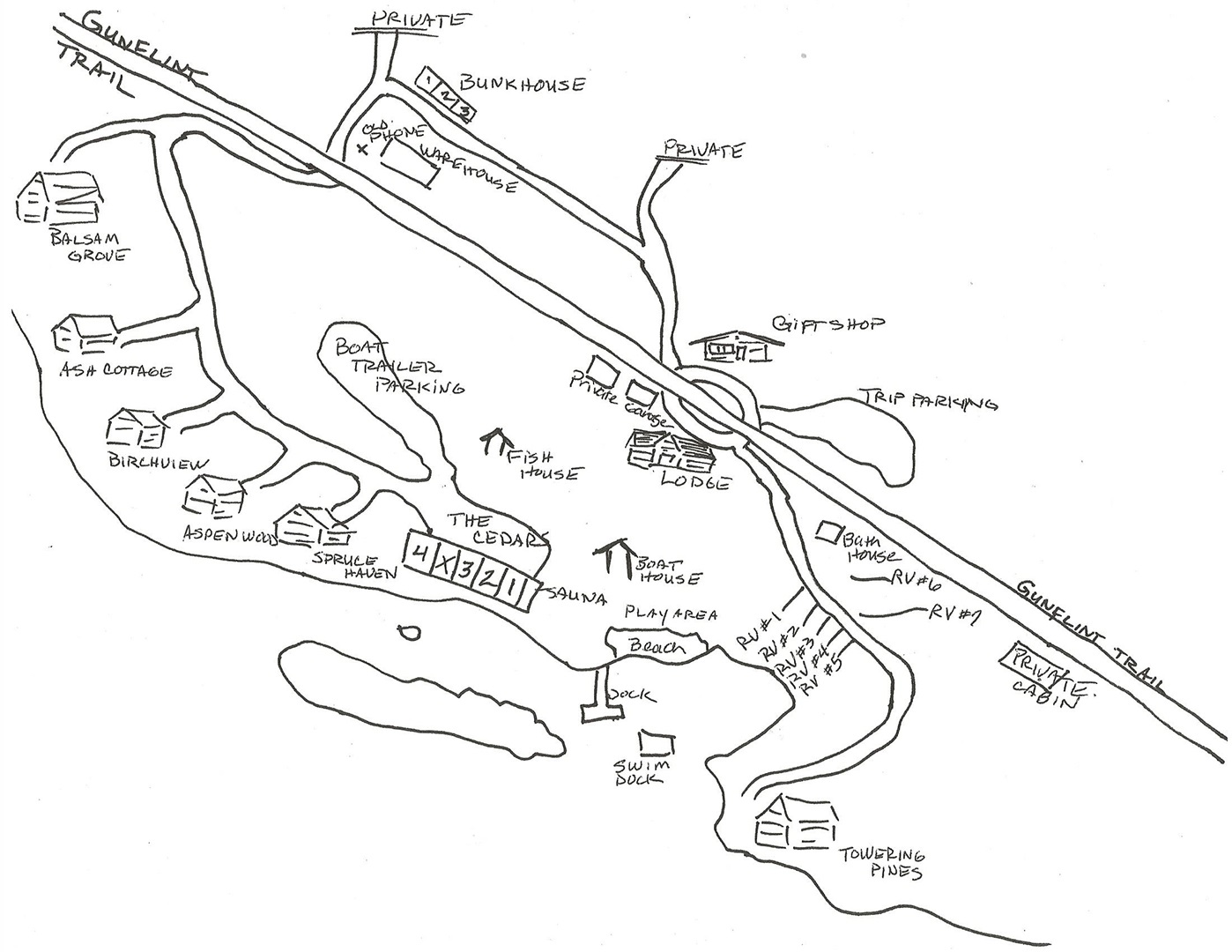 Gunflint Trail Lodging and Camping NorWester Lodge Map